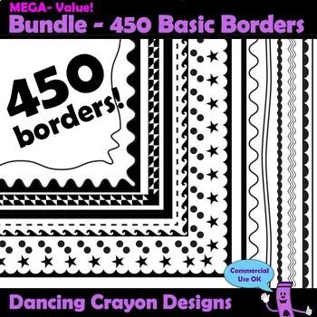 HUGE Border Clip Art Bundle   Borders and Frames
