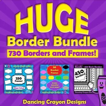 HUGE Border Bundle | Borders and Frames Clip Art