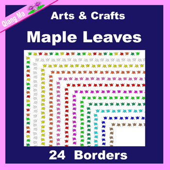 Borders and Frames: Maple Leaves Set