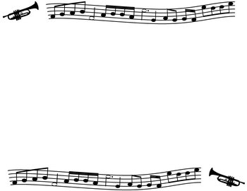 Borders And Frames Music Themed Black And White By