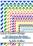 Borders and Frames Pack  {Colorful Chevron Theme}