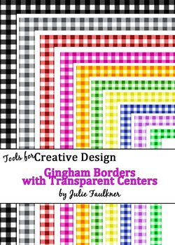 Borders and Frames Pack  {Gingham, Checkered, Squares Theme}
