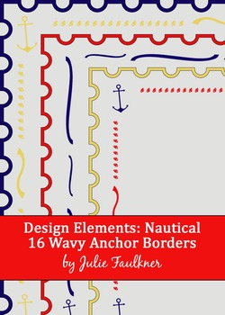 Borders and Frames Pack {Nautical Anchors Theme}