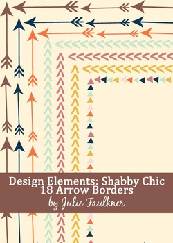 Borders and Frames Pack {Shabby Chic Arrows Theme}