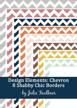 Borders and Frames Pack {Shabby Chic Chevron Theme}