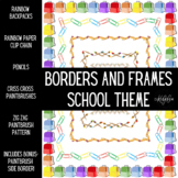 Borders and Frames- School Theme- Transparent and White Backgrounds