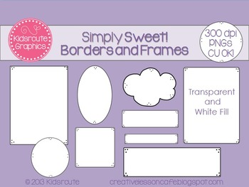 Borders and Frames~ Simply Sweet~ Personal or Commercial Use