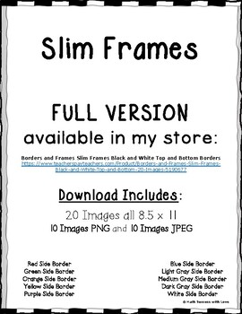 Borders and Frames Slim Frames Black and White Border FREE DOWNLOAD