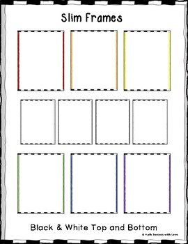 Borders and Frames Slim Frames Black and White Top and Bottom Border (20 Images)