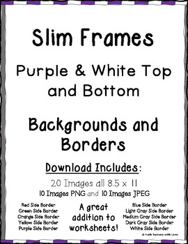 Borders and Frames Slim Frames Purple and White Top and Bottom Borders 20 Images