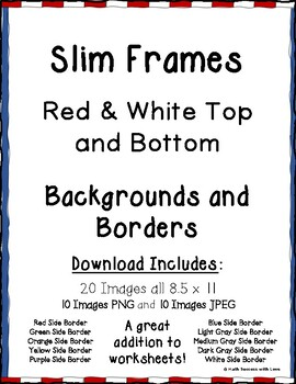 Borders and Frames Slim Frames Red and White Top and Bottom Borders (20 Images)
