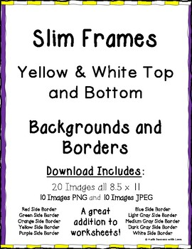Borders and Frames Slim Frames Yellow and White Top and Bottom Borders 20 Images