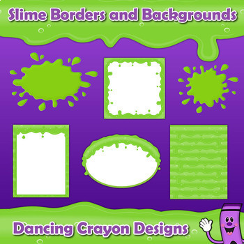 Borders and Frames: Slime Effect Borders, Frames, and Backgrounds