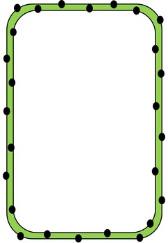Borders and Frames - Spotty Dotty Borders - FREE for Commercial or Personal Use