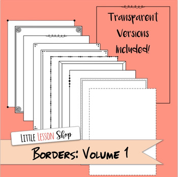 Borders and Frames: Volume 1