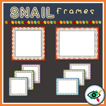 Snail borders and frames clipart