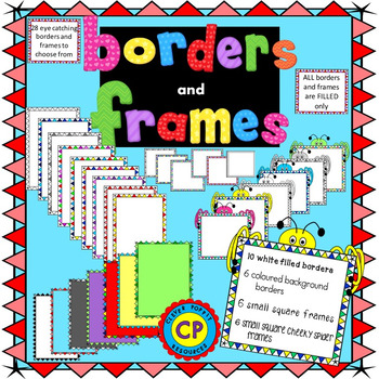 Borders and Frames with Triangles and Stars