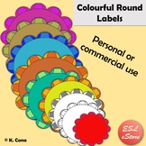 Round Digital Borders, Frames and Labels Clip Art