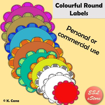 Round Digital Labels Clip Art