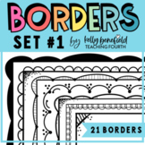 Borders: Doodle Borders Set 1 {Clip Art by Kelly Benefield}