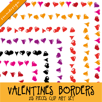 Borders clipart MEGAPACK - Valentine's Day