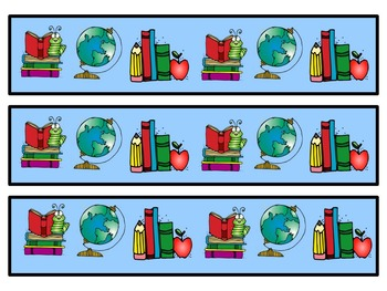 Borders for Bulletin Boards_School Theme