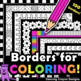 Borders for Coloring \ 100 Black and White Borders and Frames Clip Art BUNDLE