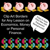 Borders for Economics, Money, Personal Finance, Fundraisers, TpT Sellers
