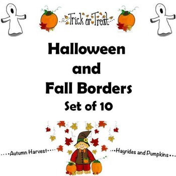 Borders for Halloween, Fall and Thanksgiving