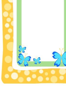Borders for letterhead, newsletters, etc. - Group 2 - spring colors