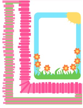 Borders for letterhead, newsletters, etc. - Group 2 - spring colors