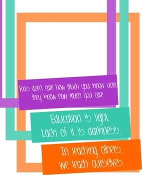 Borders for letterhead, newsletters, etc. - Group 4 - teaching quotes