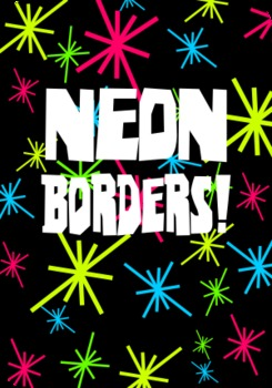 Borders for letterhead, newsletters, etc. - Group 5 - NEON!!