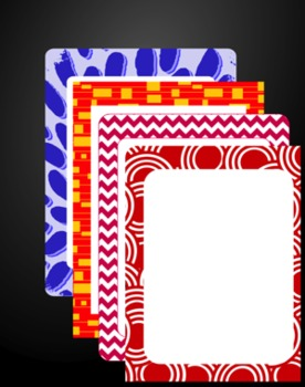 Borders for letterhead, newsletters + digital papers - Group 6 - fabric store
