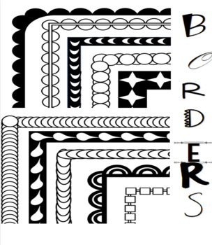 Borders, frames for your projects