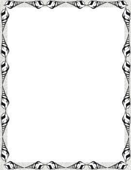 Borders-hand drawn shell pattern