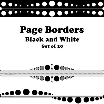 Borders of Lines and Dots