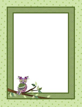 Borders or Frames – Editable – Coordinates with Book Smart Owls Classroom Theme