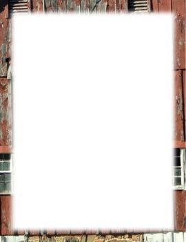 Borders-red barn facade