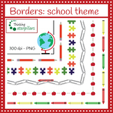 Borders: school theme (clip art)