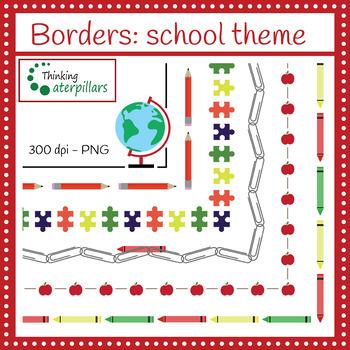 Borders: school theme (clip art)