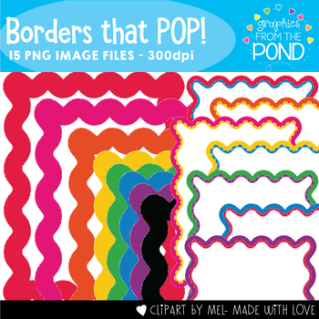 Borders that Pop - Clipart Frames for Teaching Files
