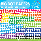 Borders/Frames/Papers - BIG DOTS - Free Commercial Use Graphics