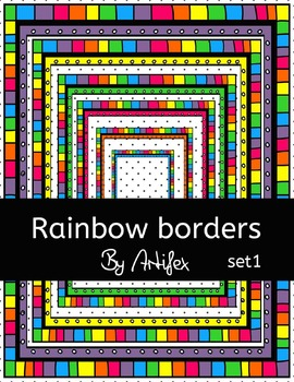 "Borders/frames ""Rainbow"" set1"
