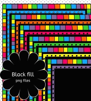 "Borders/frames ""Rainbow"" set1"