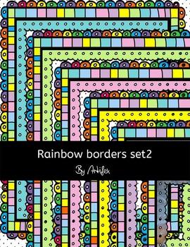 "Borders/frames ""Rainbow"" set2"