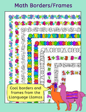 Math Borders frames for worksheets/task cards/activities