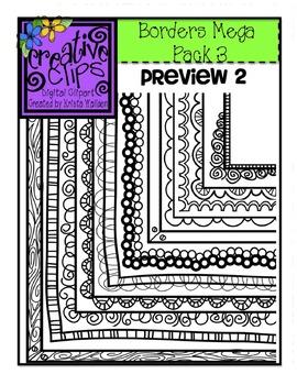 Borderz MEGA Pack 3 {Creative Clips Digital Clipart}