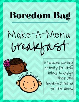 Boredom Bag | Make-a-Meal: Breakfast