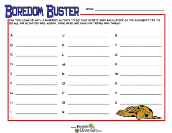 Boredom Buster  ABC's